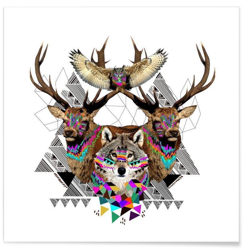 Cerfs, Loups, Forest Friends affiche