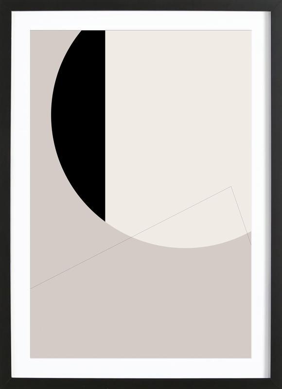 Black Side -Bild mit Holzrahmen