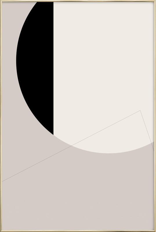 Black Side Poster in Aluminium Frame