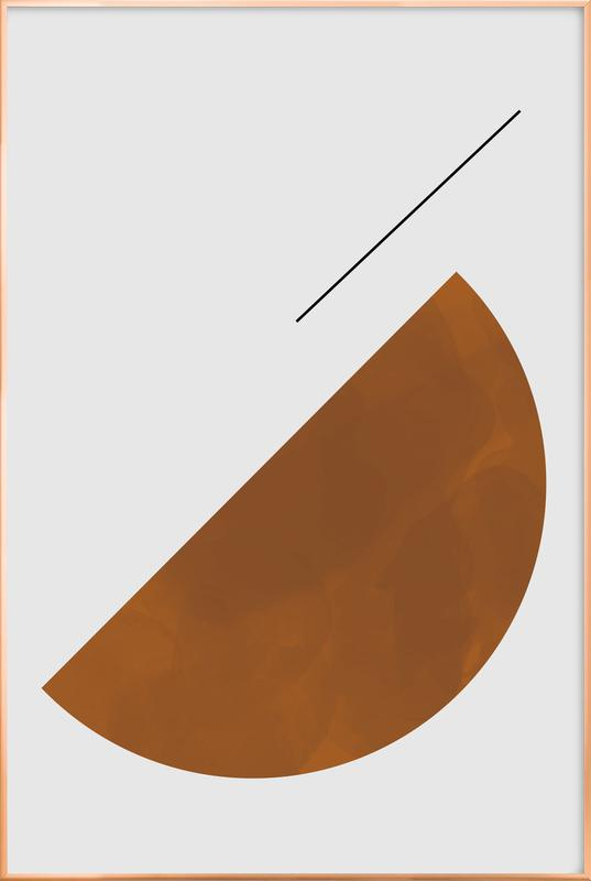 Half Cookie -Poster im Alurahmen