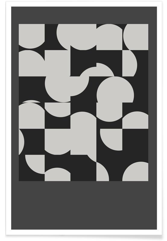 Zwart en wit, Circle Black poster