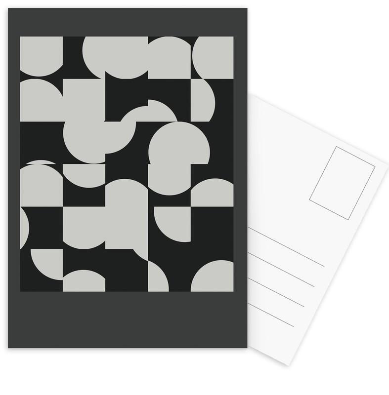 Zwart en wit, Circle Black ansichtkaartenset