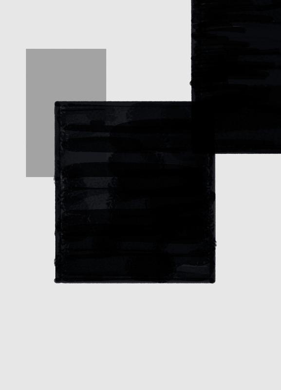 Dark and Brighter canvas doek
