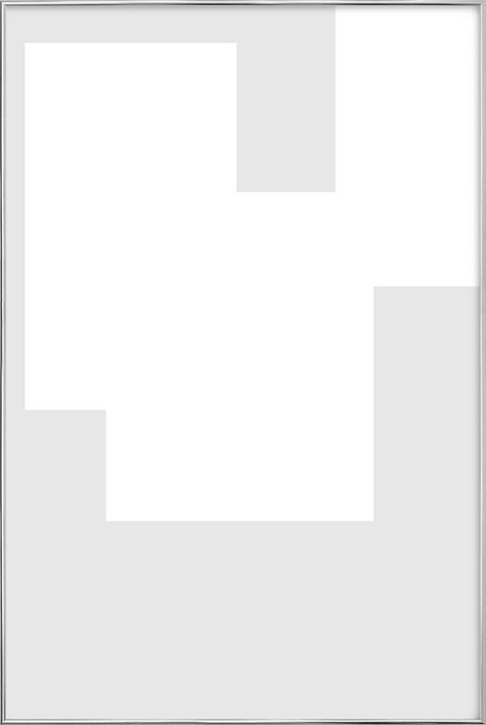 Three White Ones Poster in Aluminium Frame