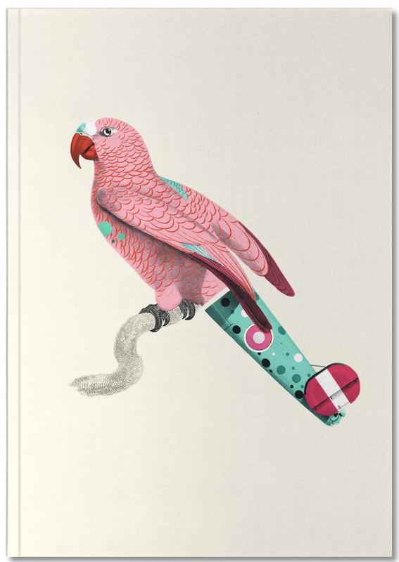 Nursery & Art for Kids, Parrots, Pastel Pink Parrot Notebook
