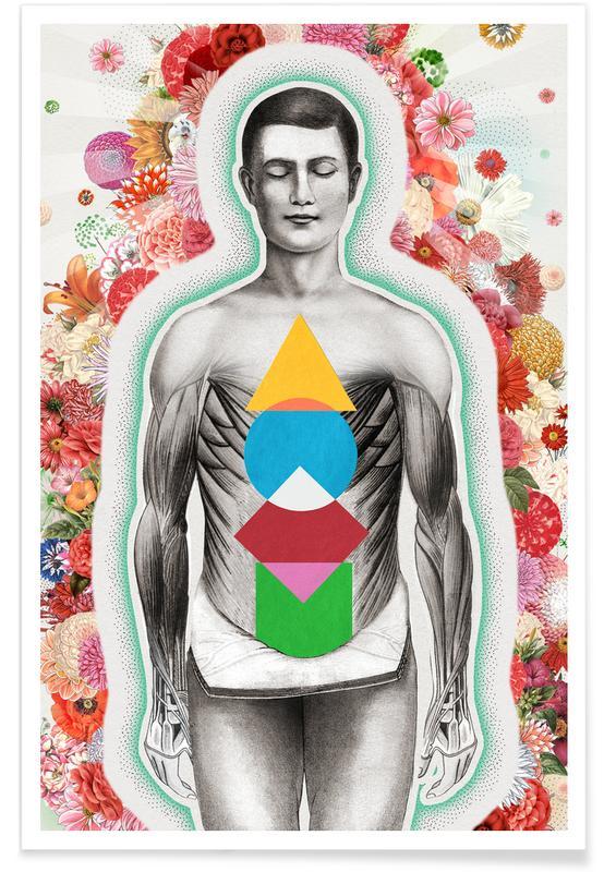 Retro, Meditation poster