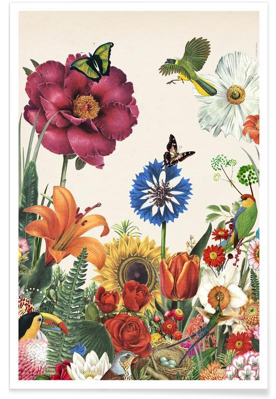 Garden Spring Flowers affiche