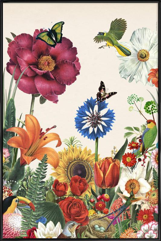 Garden Spring Flowers -Bild mit Kunststoffrahmen