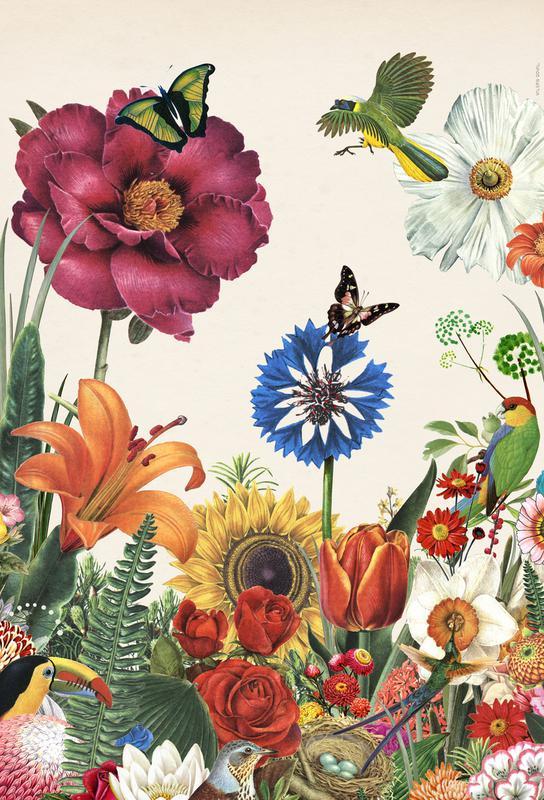 Garden Spring Flowers -Acrylglasbild