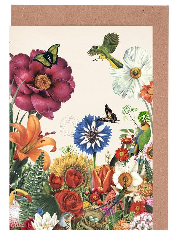Garden Spring Flowers -Grußkarten-Set