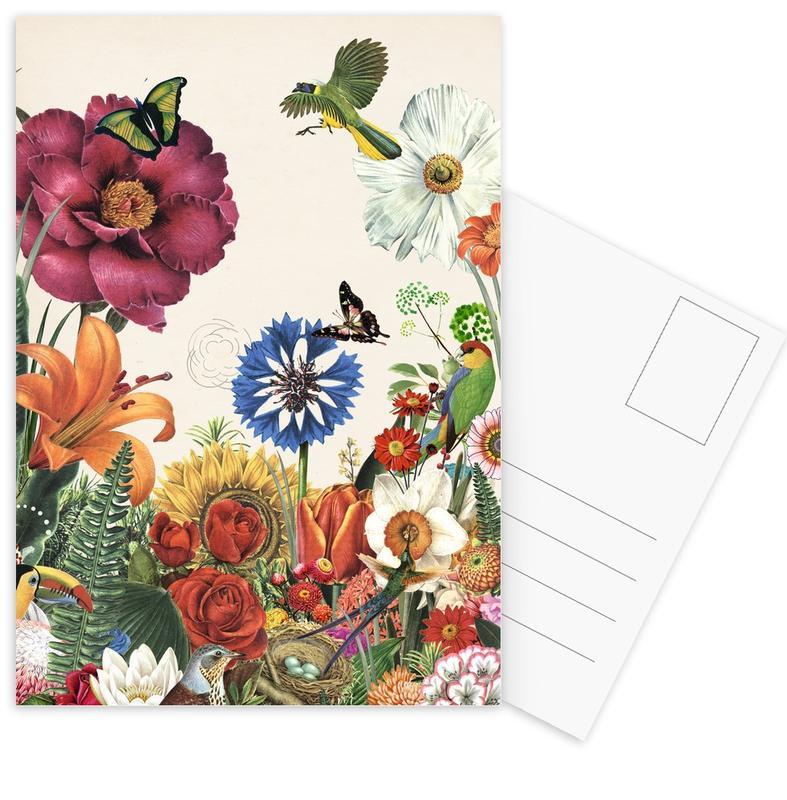 Garden Spring Flowers -Postkartenset