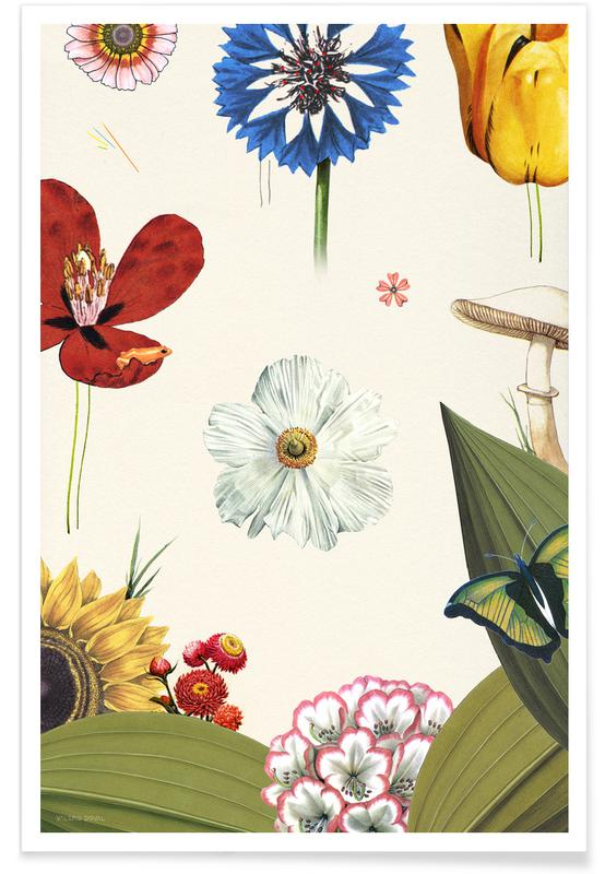 Retro, Hidden Garden Flowers poster