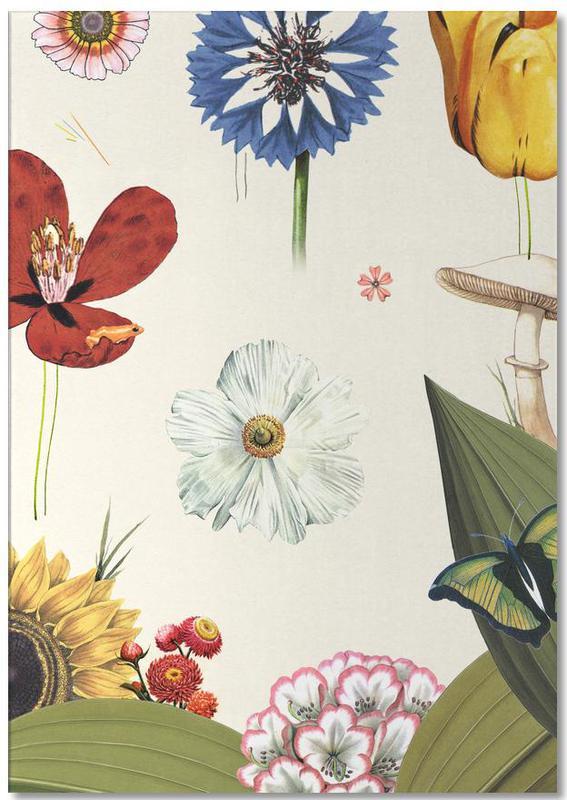 Rétro, Hidden Garden Flowers bloc-notes
