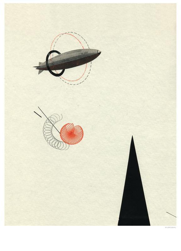 Vintage Zeppelin -Leinwandbild
