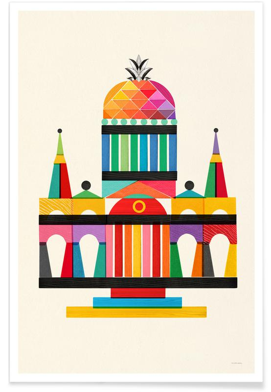 Pineapple Cathedral Architecture affiche