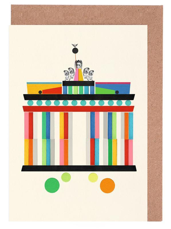 Berlin, Burgers, Nursery & Art for Kids, Sights & Landmarks, Brandenburger Tor Greeting Card Set