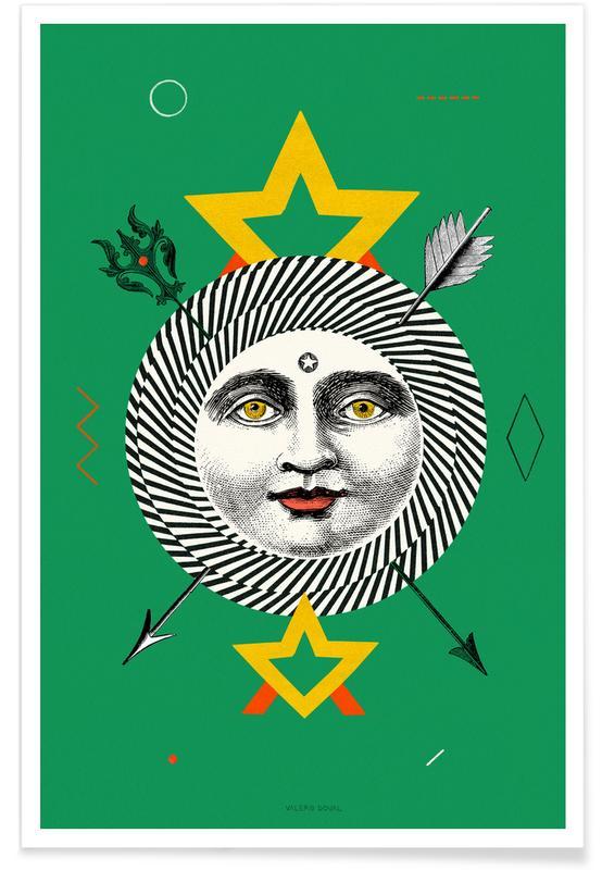 The Sun Tarot Card affiche