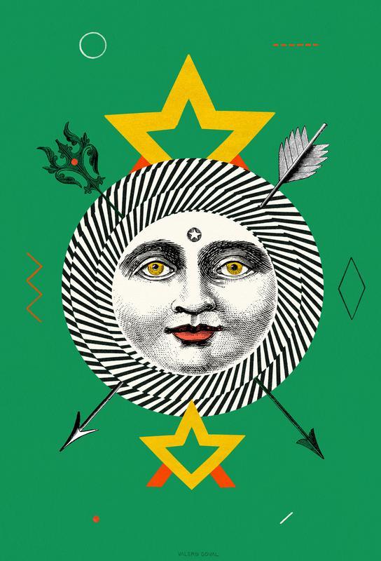 The Sun Tarot Card -Acrylglasbild