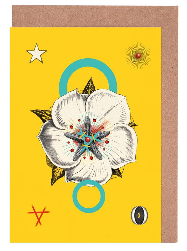 The Hypnotic Flower Tarot Card Greeting Card Set