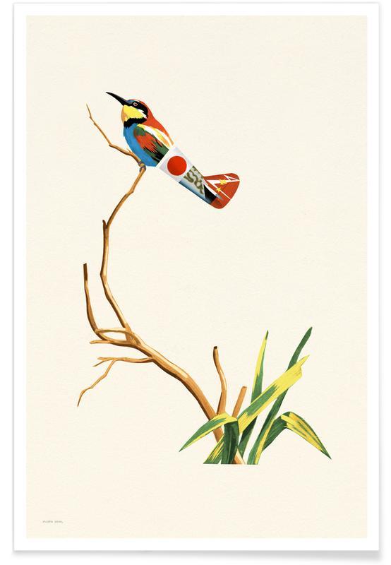 Kunst voor kinderen, Japanese Bird poster