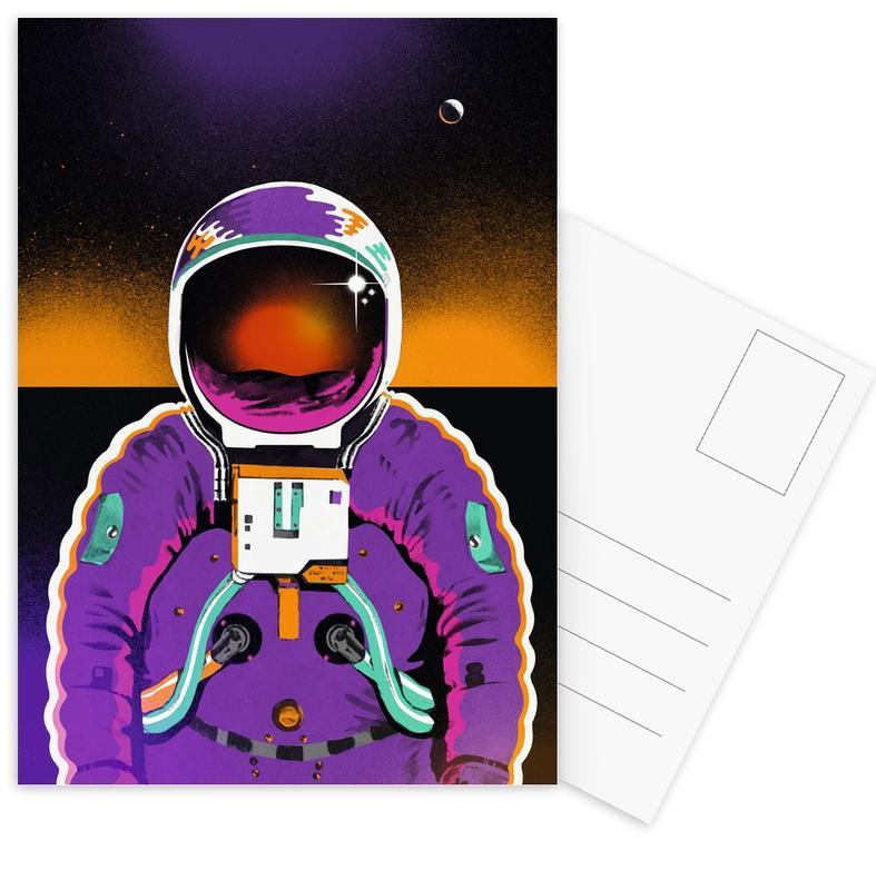 Astronauten, Kinderzimmer & Kunst für Kinder, Astronaut -Postkartenset