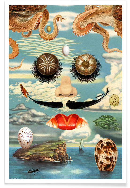 Salvador Dali, Dali & The Sea Urchins -Poster