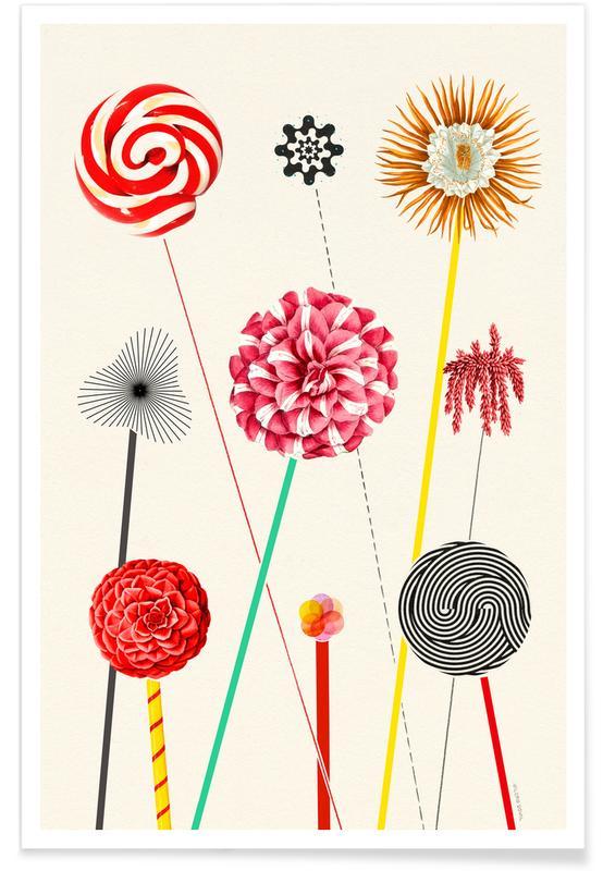 Kunst voor kinderen, Flower Fireworks poster