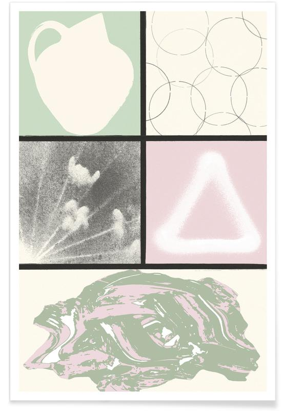 Abstract Nature With Vase -Poster