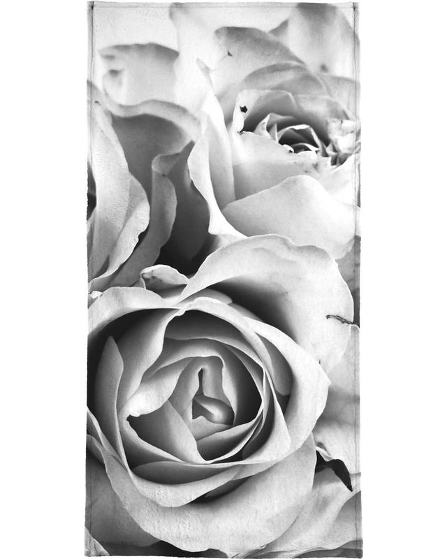 Rozen, Zwart en wit, Flowers for my Mom handdoek