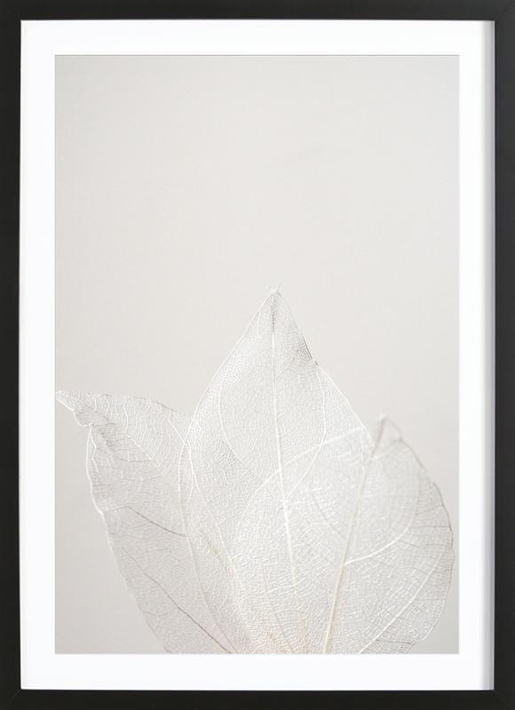 Light Skeleton Leaves -Bild mit Holzrahmen