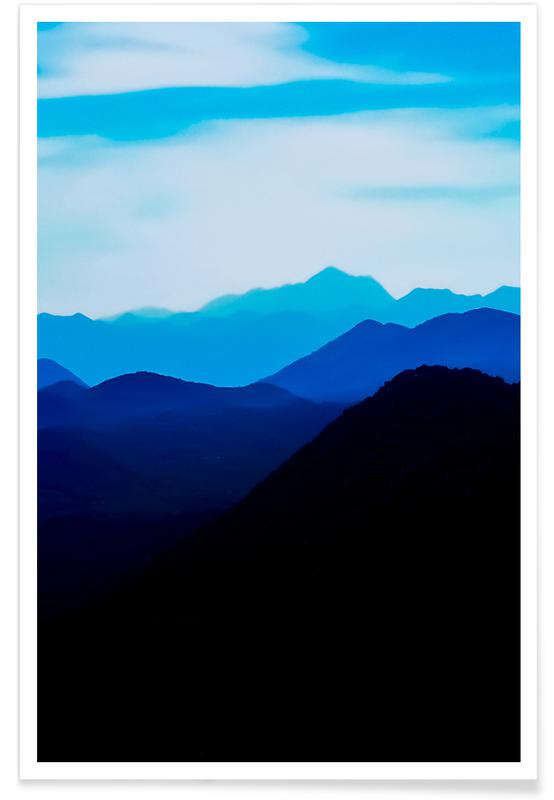 Bergen, Blue Mountain Range poster