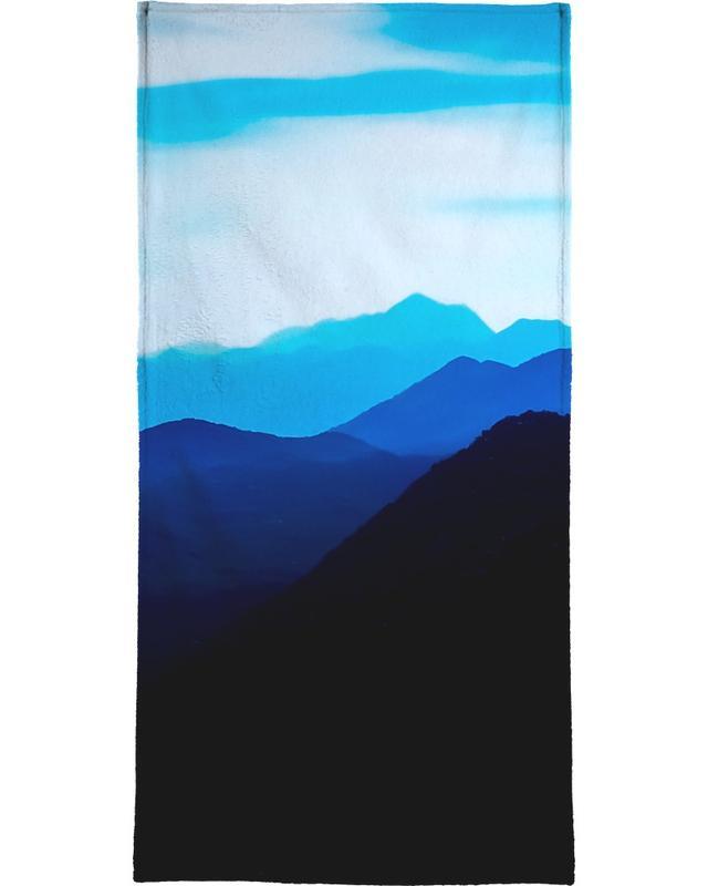 Bergen, Blue Mountain Range handdoek