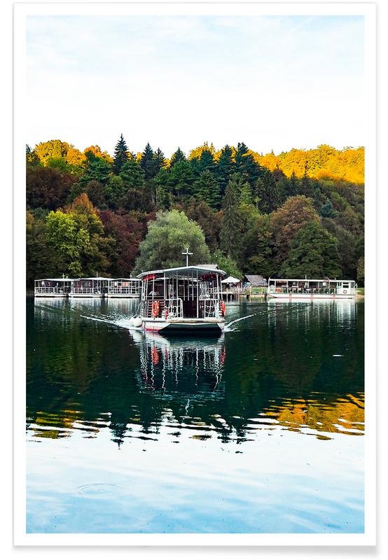 Ocean, Lake & Seascape, Boats, Reflections on Lake Poster