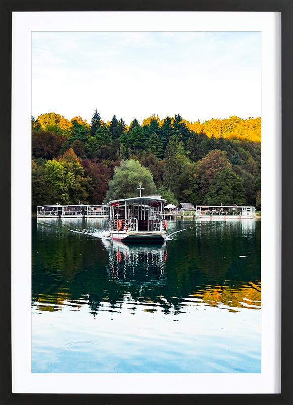 Reflections on Lake -Bild mit Holzrahmen