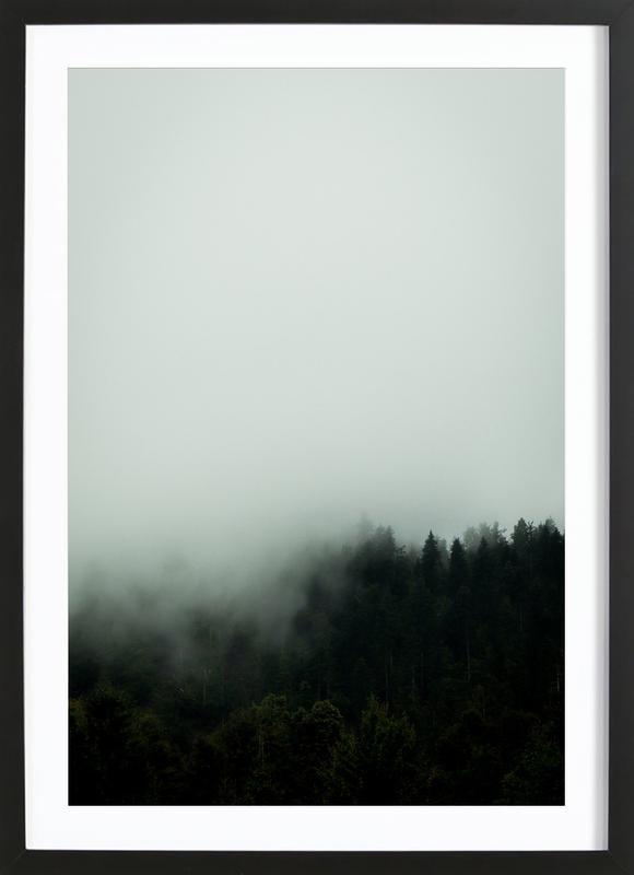 Julia's Forest in the Fog -Bild mit Holzrahmen