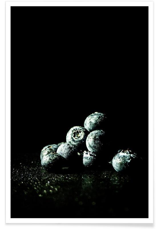 Beeren, Dark Blueberries -Poster