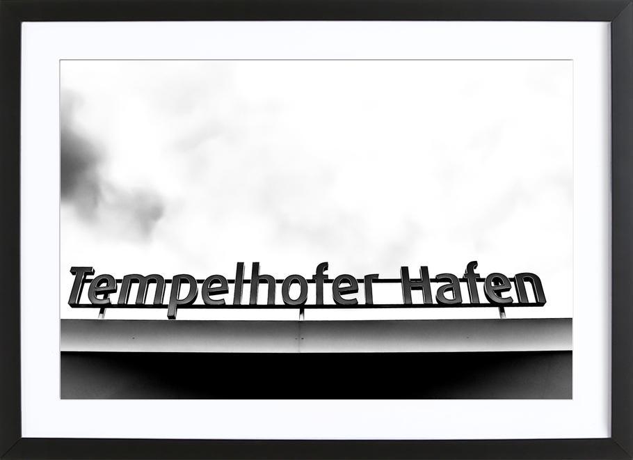 Heiko's Tempelhofer Hafen -Bild mit Holzrahmen