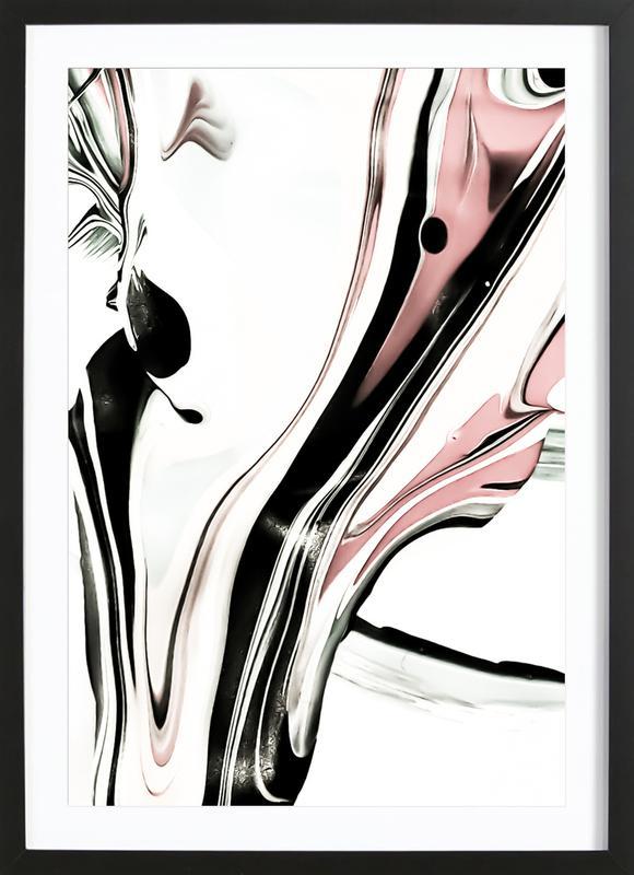Abstract Blurry Pastels -Bild mit Holzrahmen