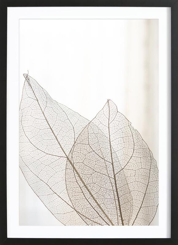 Skeleton Leaves -Bild mit Holzrahmen