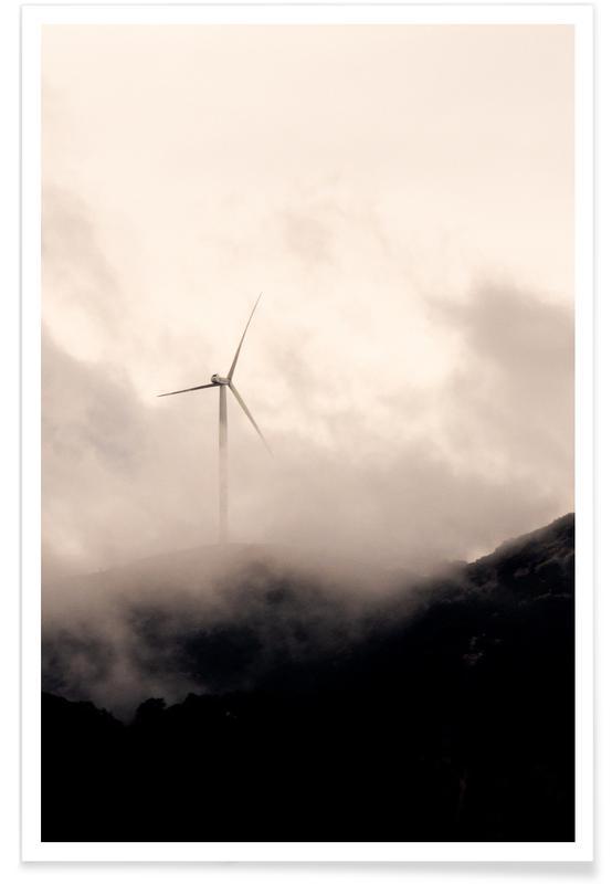 Himmel & skyer, Skove, Foggy Peak Plakat