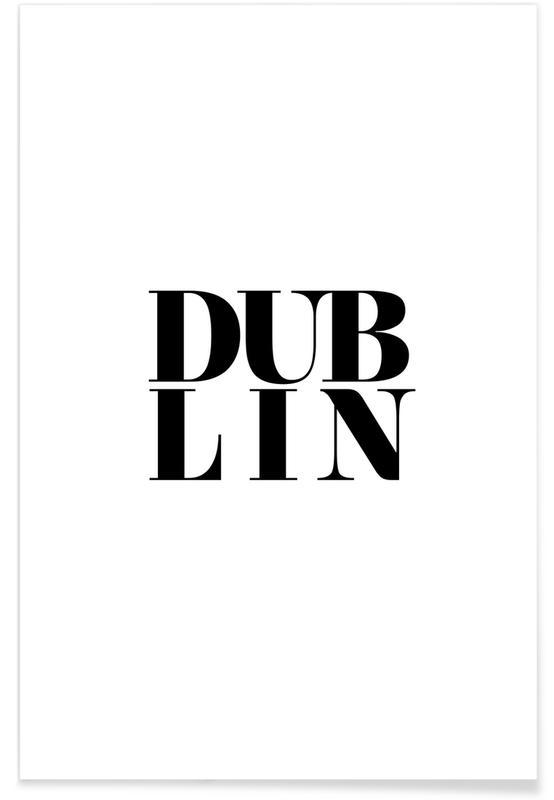 Noir & blanc, Dublin, DUBLIN affiche