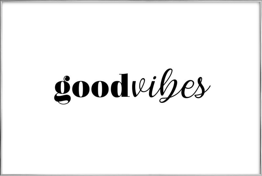 GOODVIBES poster in aluminium lijst