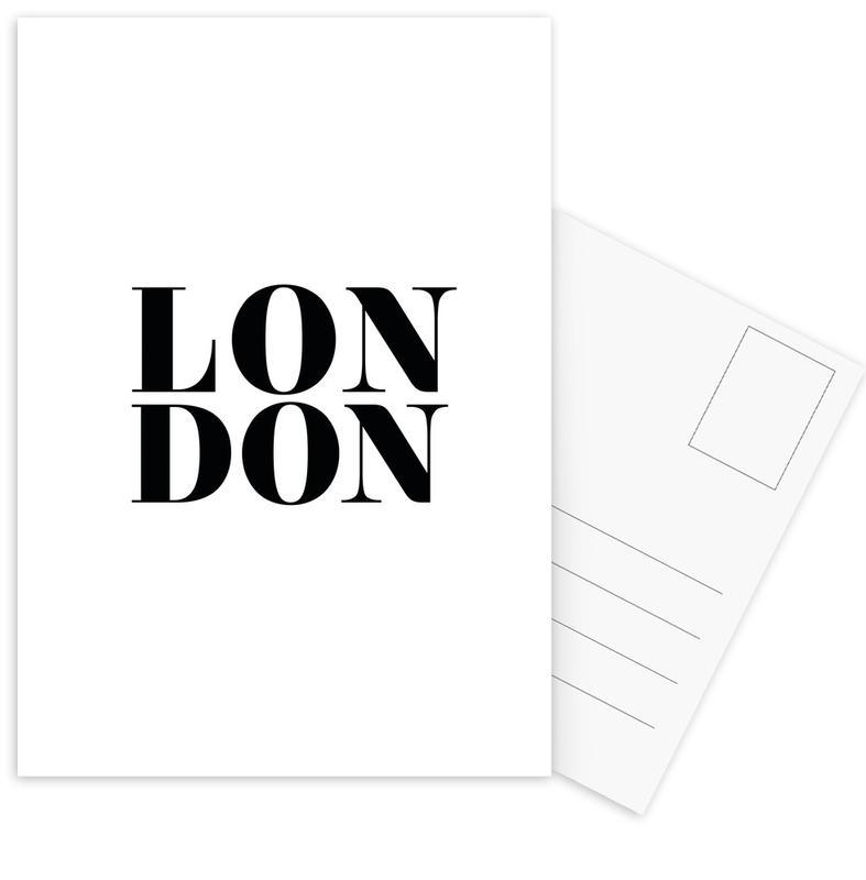 Londen, Zwart en wit, LONDON ansichtkaartenset