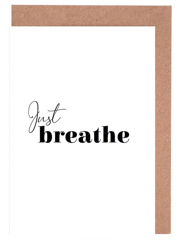 Yoga - Just Breathe Greeting Card Set