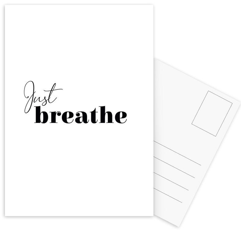 Yoga - Just Breathe Postcard Set