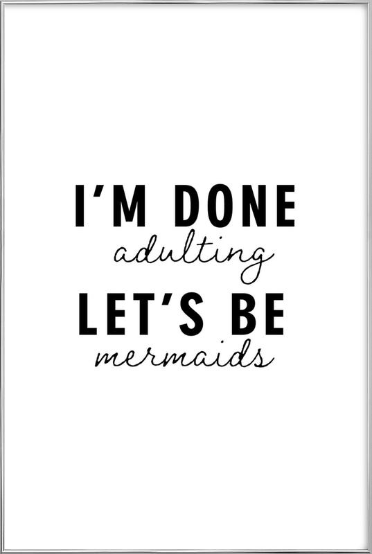 Let's Be Mermaids Poster in Aluminium Frame
