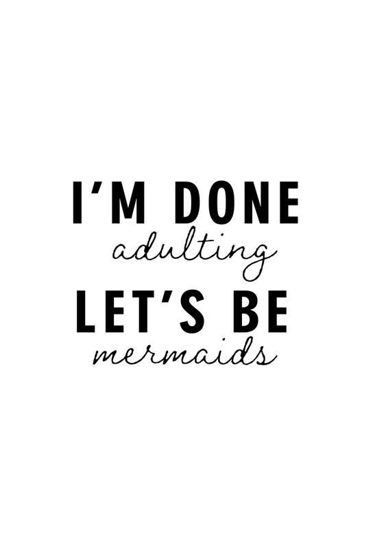 Let's Be Mermaids Acrylic Print