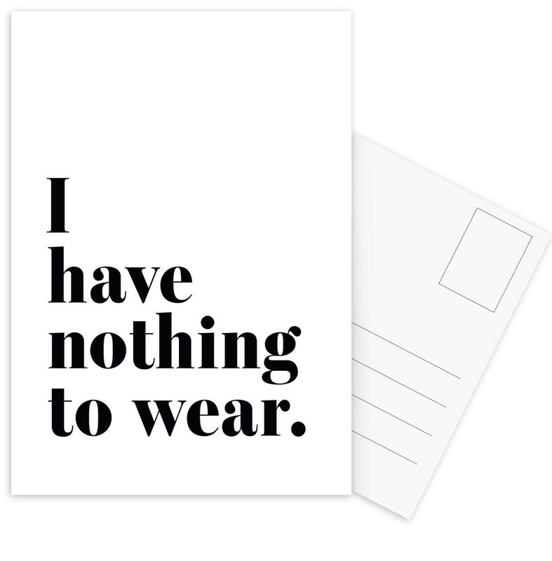 I Have Nothing To Wear -Postkartenset