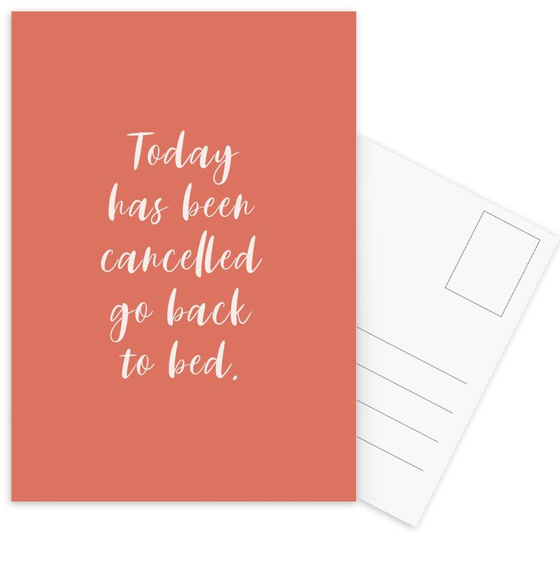 Today Has Been Cancelled -Postkartenset