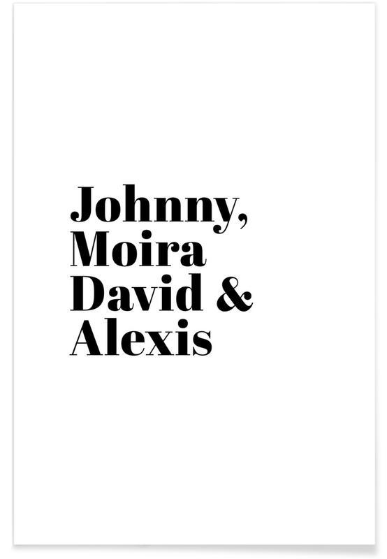 Motivation, Serien, Johnnymoiradavidalexis -Poster
